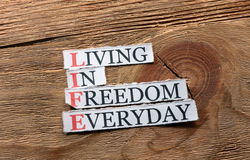 Life freedom  inspiration Royalty Free Stock Image