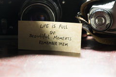 Life is full of beautiful moments - remember them Royalty Free Stock Photos
