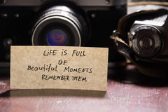 Life is full of beautiful moments - remember them Royalty Free Stock Photography