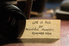 Life is full of beautiful moments - remember them Stock Photo