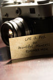 Life is full of beautiful moments - remember them Stock Images