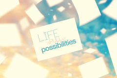 Life is Full of Possibilities Stock Photos