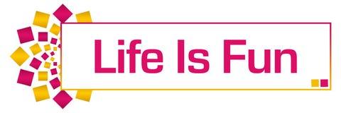 Life Is Fun Pink Gold Circular Bar Royalty Free Stock Photo