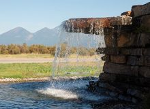 Life-giving water in Montana Stock Image