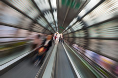 Life goes fast. The treadmill of Reggio Calabria, the effect was created by zooming while shooting Royalty Free Stock Photos