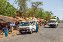 Life going on in the roads of Welkite, Ethiopia Royalty Free Stock Photography