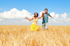 Life is good. Loving couple spends time outdoors Stock Photography