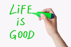 Life is good Stock Image