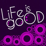 Life Is Good Purple Pink Rings Stock Photos