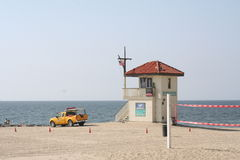 Life Guard. Los Angeles Life Guard truck by tower Royalty Free Stock Photography