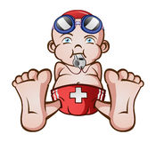 Life Guard Baby stock illustration