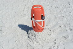 Life guard beach rescue. Aid in the sand Royalty Free Stock Images