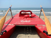 Life guard boat Stock Photos