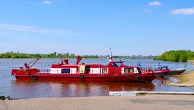Life guard-boat on river Royalty Free Stock Photos
