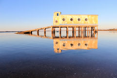 Life-guard building in Fuseta, at Ria Formosa Park Stock Images