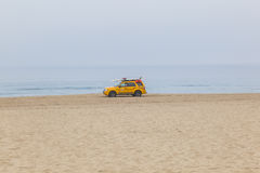 Life Guard Car at Redondo Beach in Los Angeles Royalty Free Stock Image