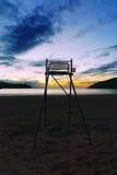 Life guard chair on Plentzia beach Stock Photo