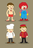 Life Guard Clown Chef Bellboy Vector Illustration Stock Photos