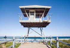 Life guard house. Traditional australian life guard house on city Cronulla Beach - Sydney, NSW, Australia Royalty Free Stock Images