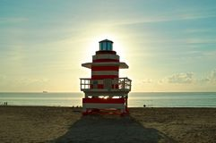 Life guard house Miami Beach Royalty Free Stock Photography