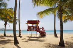 Life guard hut on the beach. A picture of a life guard hut on the beach stock photography