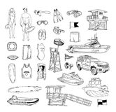 Life guard icons vector illustration. black Royalty Free Stock Photography