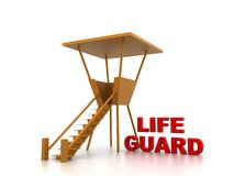 Life guard. This image represents life guard in his business or career. This can be used in business,educational, charitable or design purposes Stock Photos
