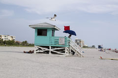 Life Guard keeping watch Stock Photo