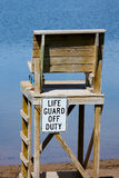 Life Guard off Duty chair Royalty Free Stock Photography