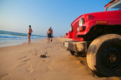 Life guard red car Stock Photography