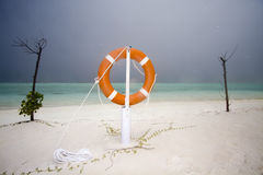 Life Guard ring. At stormy sea Royalty Free Stock Photos