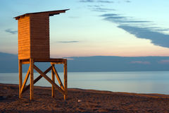Life-guard's cabin Stock Image