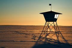Life-guard S Hut Royalty Free Stock Image