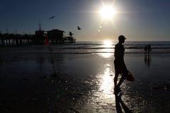 Life guard at Santa Monica Beach royalty free stock photo