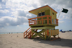 Life guard stand. On South Beach, Miami Stock Photography