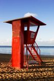 Life Guard Stand. At Sunrise in Hawaii Stock Photography