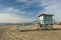 Life Guard Station. Life Guard hut/cabin on the beach at Santa Monica Royalty Free Stock Photos