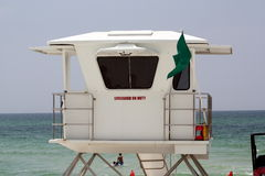Life Guard Station Stock Photo