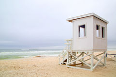 Life guard station on beach Stock Photography