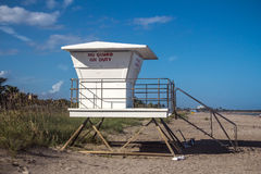 Life Guard station closed Stock Photo