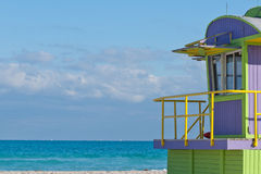 Life Guard Station Series (12th, copy space left) Royalty Free Stock Image