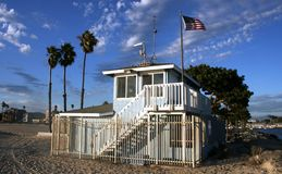 Life Guard Tower. Long Beach, CA Stock Photo