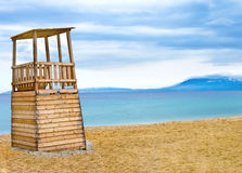Life Guard Tower on the beach Royalty Free Stock Photo