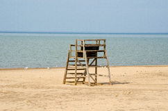 Life guard tower on beach Royalty Free Stock Image
