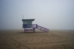 Life Guard Tower on Foggyy Afternoon Royalty Free Stock Photos