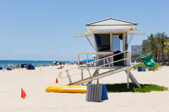 Life guard tower, Fort Lauderdale Royalty Free Stock Photography