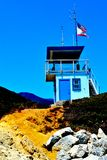 Life guard tower. A lifeguard tower in malibu california Royalty Free Stock Photography