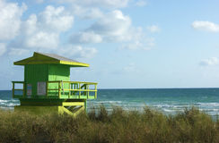 Life Guard Tower off Miami Beach Stock Images