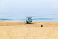 Life Guard Tower at Redondo Beach in Los Angeles Royalty Free Stock Photo