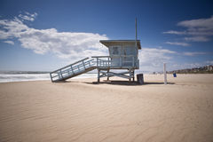 Life Guard Tower on Windy Afternoon Royalty Free Stock Photo
